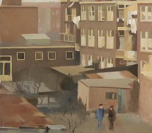 Joop Stierhout - Uitzicht vanuit het atelier
