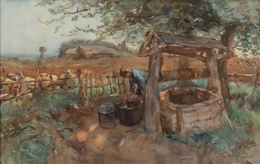 Willem van der Nat - Waterput bij schaapskooi
