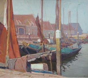 Dirk Jan Hazelzet - Botters in een binnenhaven