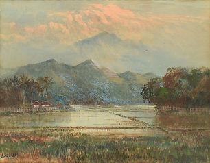 Soerjosoebroto Abdullah - Zicht op de vulkaan Tjerinai