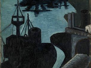 George Lampe - Het lossen van schepen in de haven