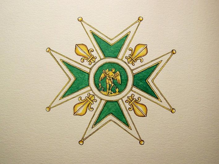 Ordre royal de saint Michel par Louis Chiren, saint Michel au combat pour la France