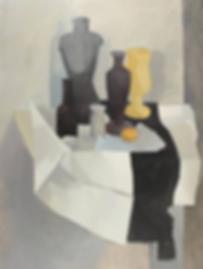 Jan B. Meinen - Stilleven van tafel met flessen