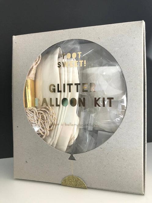 Glitter balloon set
