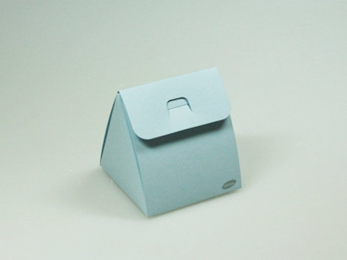 Blauw driehoek doosje