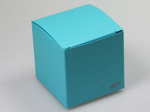 Fel blauw kubus