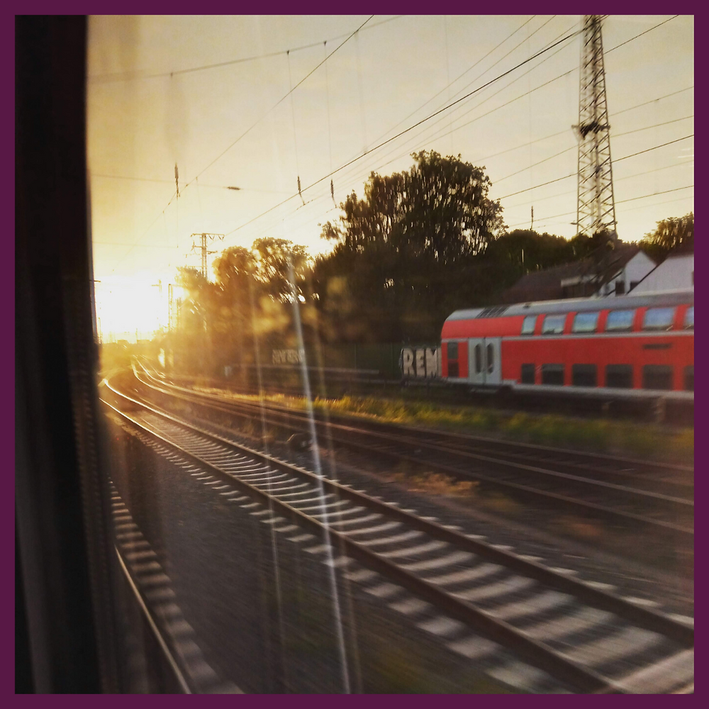 on an intercity train in Germany