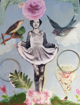 Rose with Birds