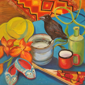 Still Life with Bird and Shoes