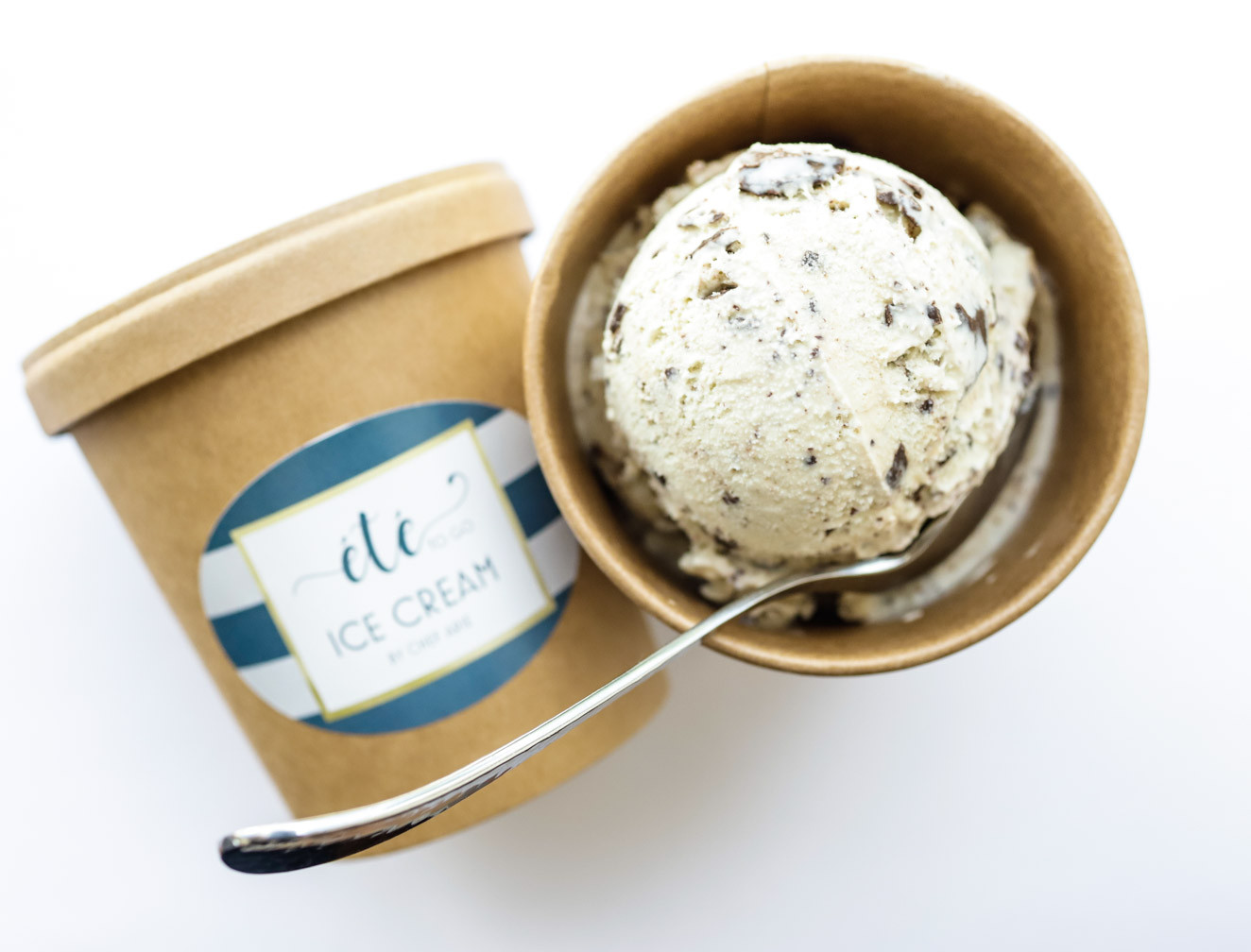 Chef Arie's Mint Chocolate Chip Ice Cream