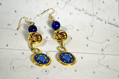 Upcycled Handmade Gold Earrings