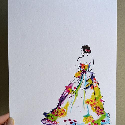 Minimal Flower Dress Print