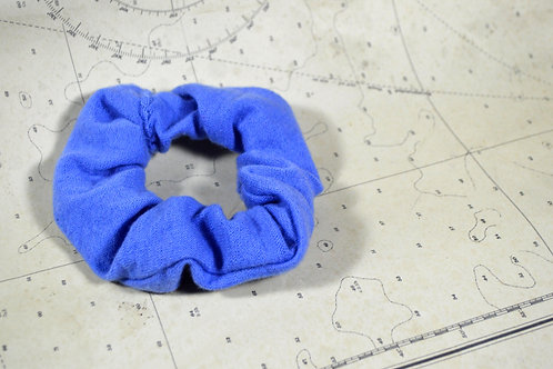 Upcycled Smooth Blue Scrunchie
