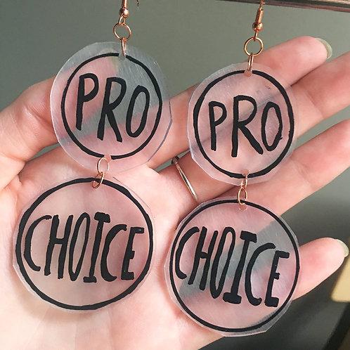 Large Chandelier Pro-Choice Earrings