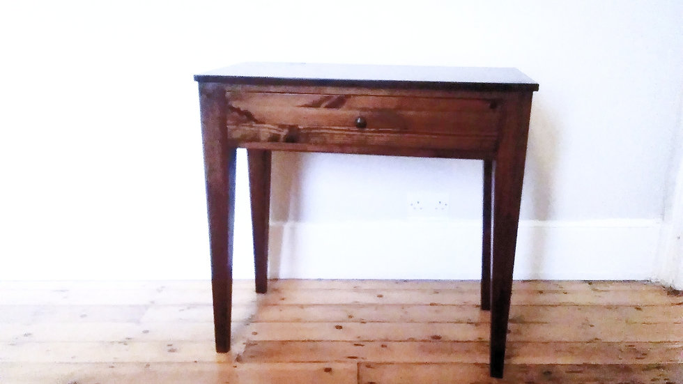 DARKWOOD TABLE / WRITING DESK HANDCRAFTED WITH SINGLE DRAWER