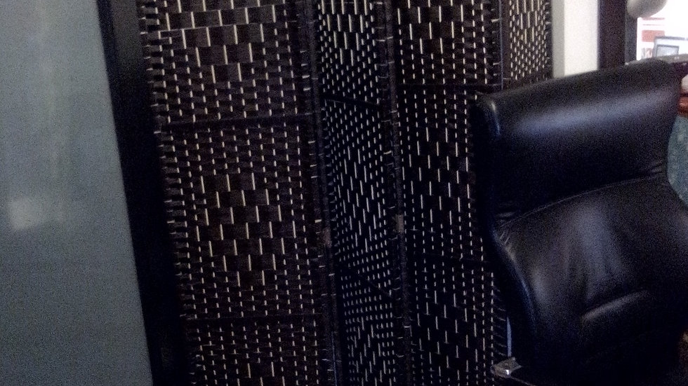 Hand-weaved Wicker Room Divider with 6 panels