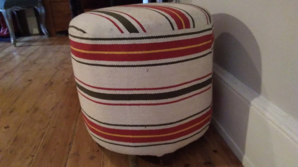 Upholstered Footstool/Pouffe Cylindrical with feet