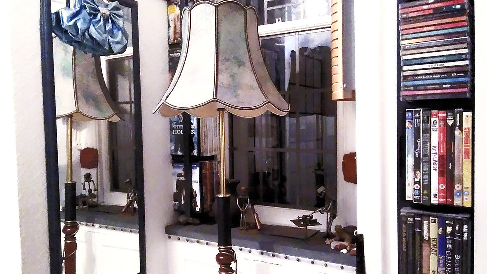 BESPOKE NEOCLASSICAL STYLE CUSTOM DESIGNED FLOOR LAMP WITH EMPIRE LAMPSHADE