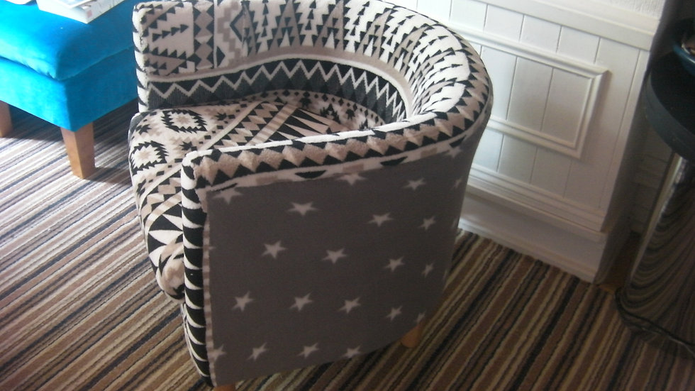 Bucket Armchair Customised/Re-upholstered