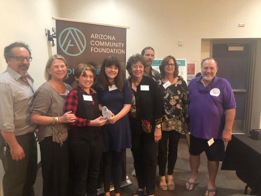 Bisbee Science Lab recieves Nonprofit Organization of the Year award from Arizona Community Foundation