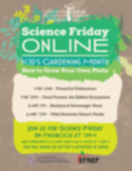 SCIENCE FRIDAY GARDENING MONTH POSTER Ma