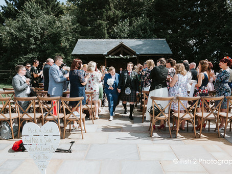 Chris and Dannielle tie the knot at Villa Farm, York