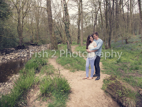 Josh and Steph's Engagement at Bluebell Wood, Preston