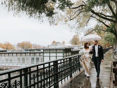 Liz and Sam get married in Zurich