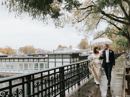 Liz and Sam get married in Zurich