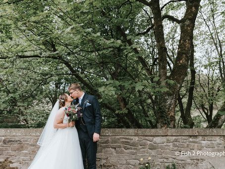 Hannah and Harry tie the knot in Burnley