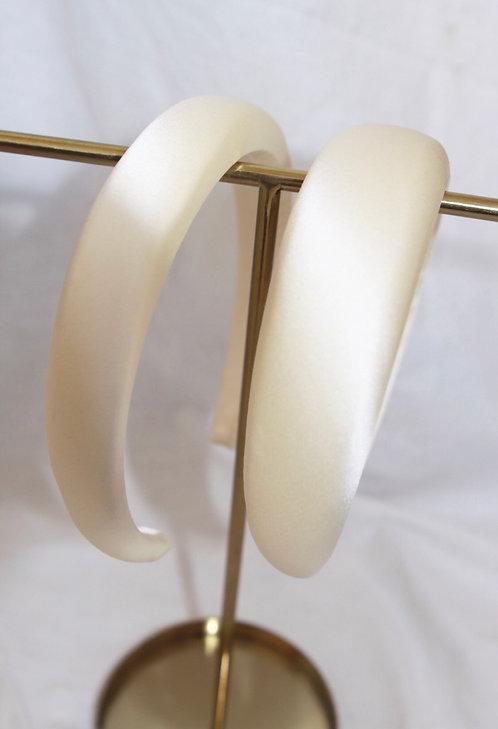 Silk Alice Band Ivory