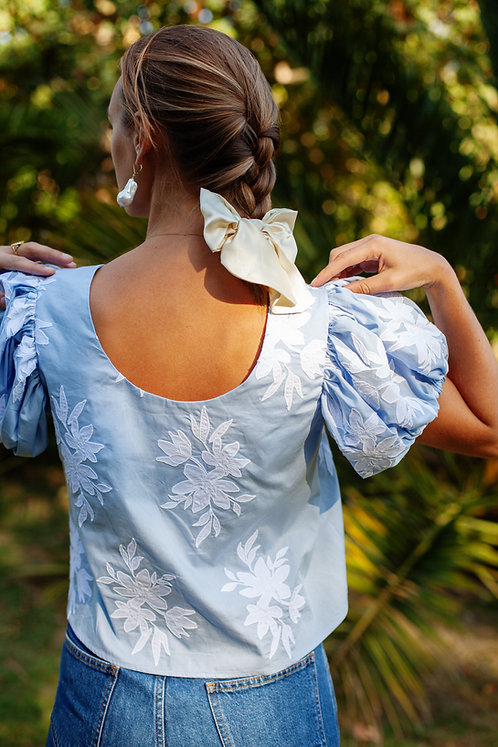 Blue Katie Blouse