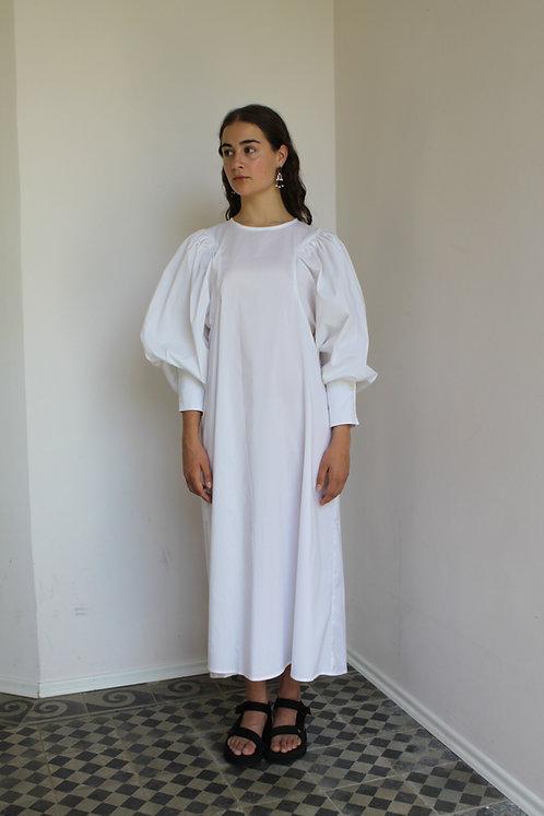 Paloma Blouse Dress White