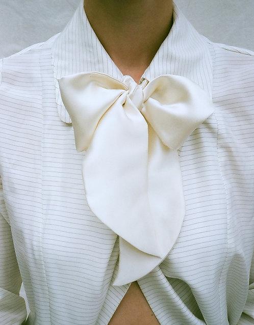 Silk Neck Bow Ivory