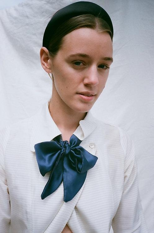 Silk Neck Bow Navy
