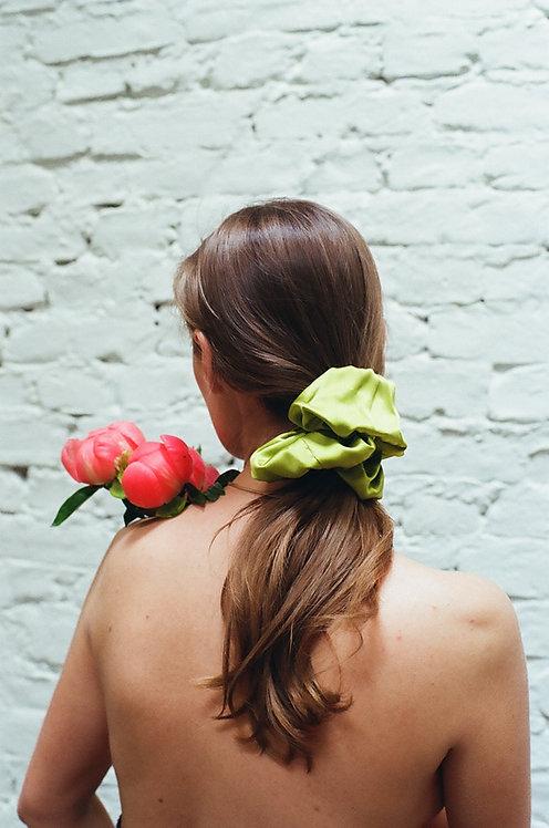 Kiwi Silk Scrunchie