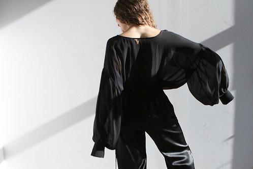 Frida Silk Blouse Black