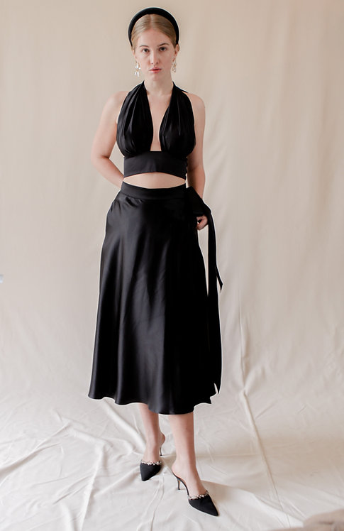 Luise Wrap Skirt Black