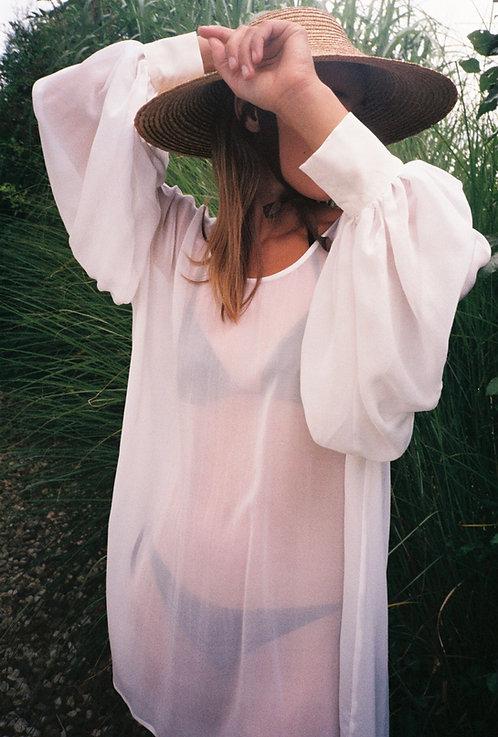 Frida Silk Blouse White