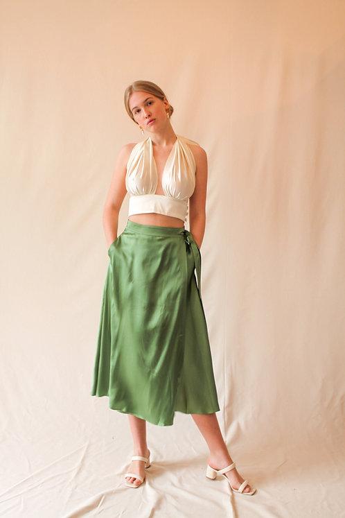 Luise Wrap Skirt Green