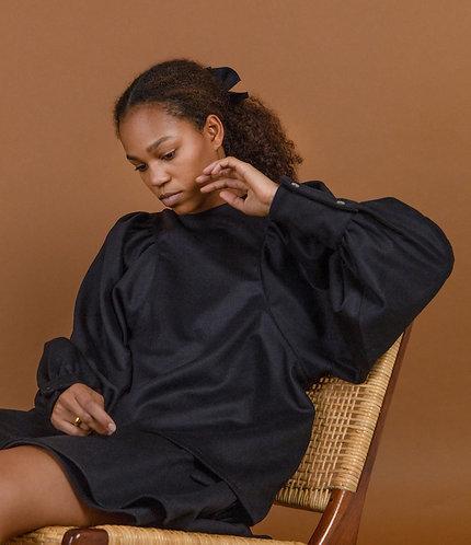 Cashmere-Wool Shirt Black