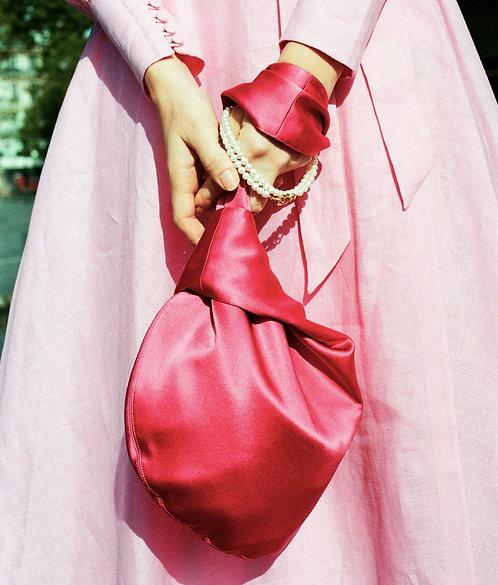 Reversible Alice Silk Bag Fuchsia & Kiwi
