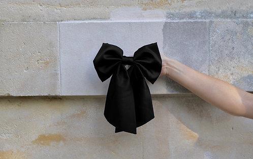 Silk Hair Bow Black