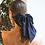 Thumbnail: Silk Hair Bow Black