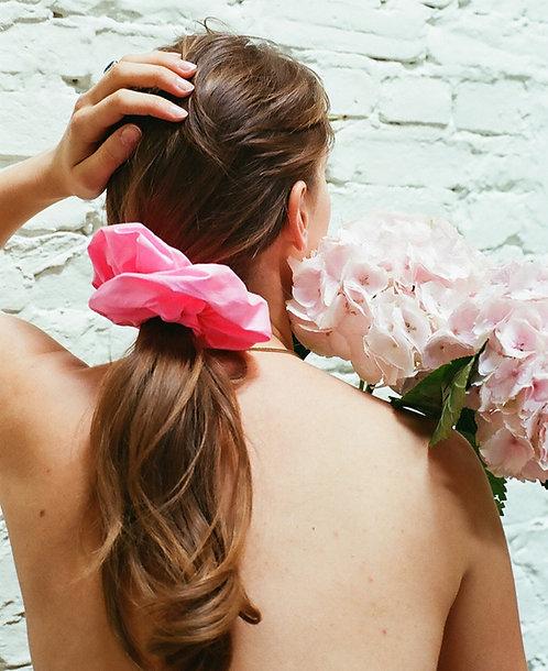 Silk Dupion Scrunchie Pink