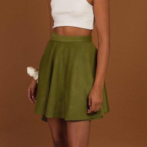 Mini Wrap Skirt Green