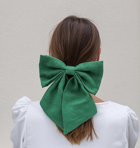 Linen Hair Bow Ivy