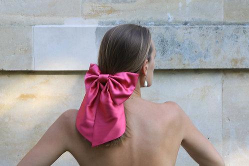 Silk Hair Bow Fuchsia