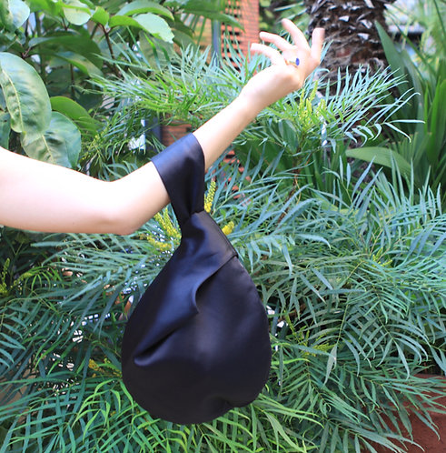 Reversible Alice Silk Bag Black & Black