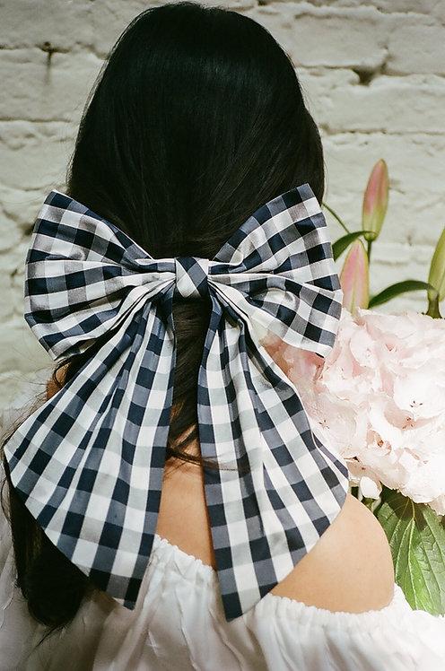 Silk Dupion Hair Bow Gingham